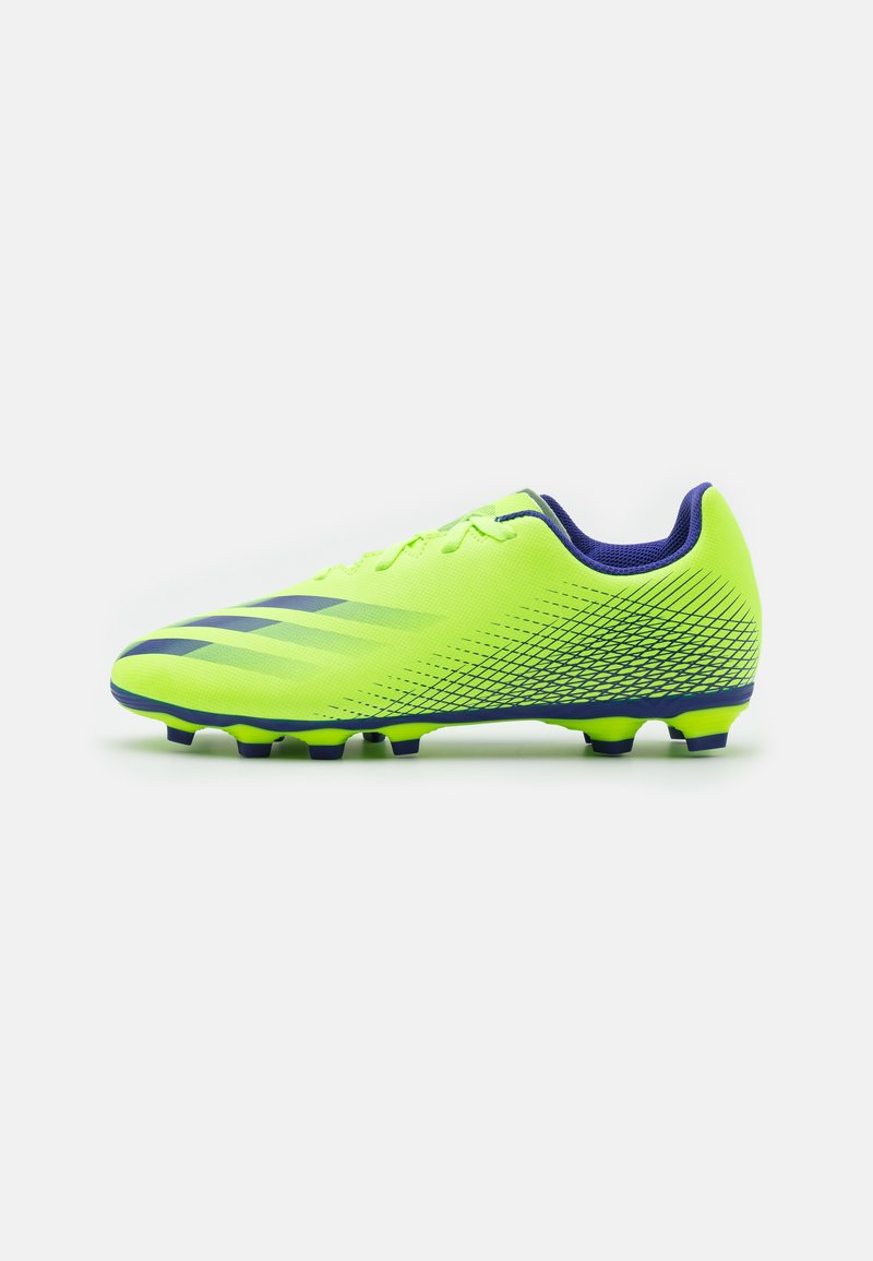 adidas Performance - GHOSTED.4 FXG UNISEX - Moulded stud football boots - signal green/energy ink