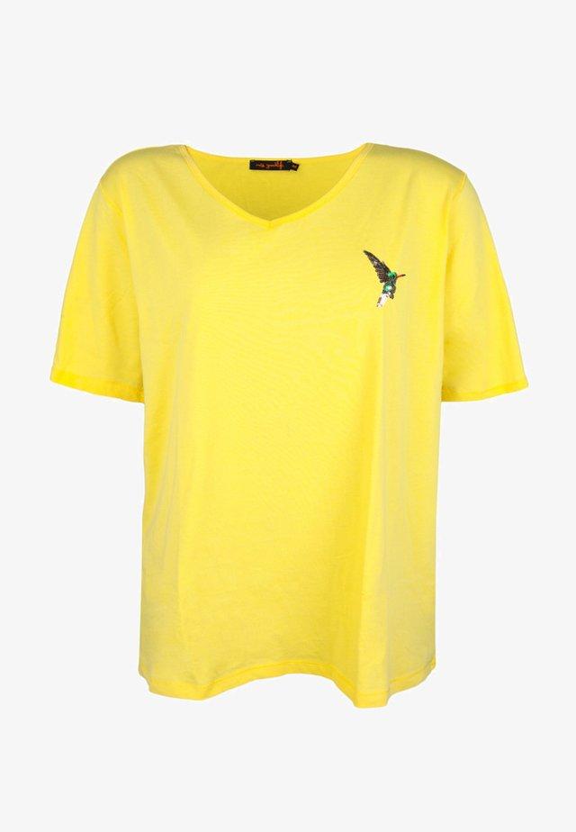 HUMMING-BIRD CACTUS - Print T-shirt - yellow