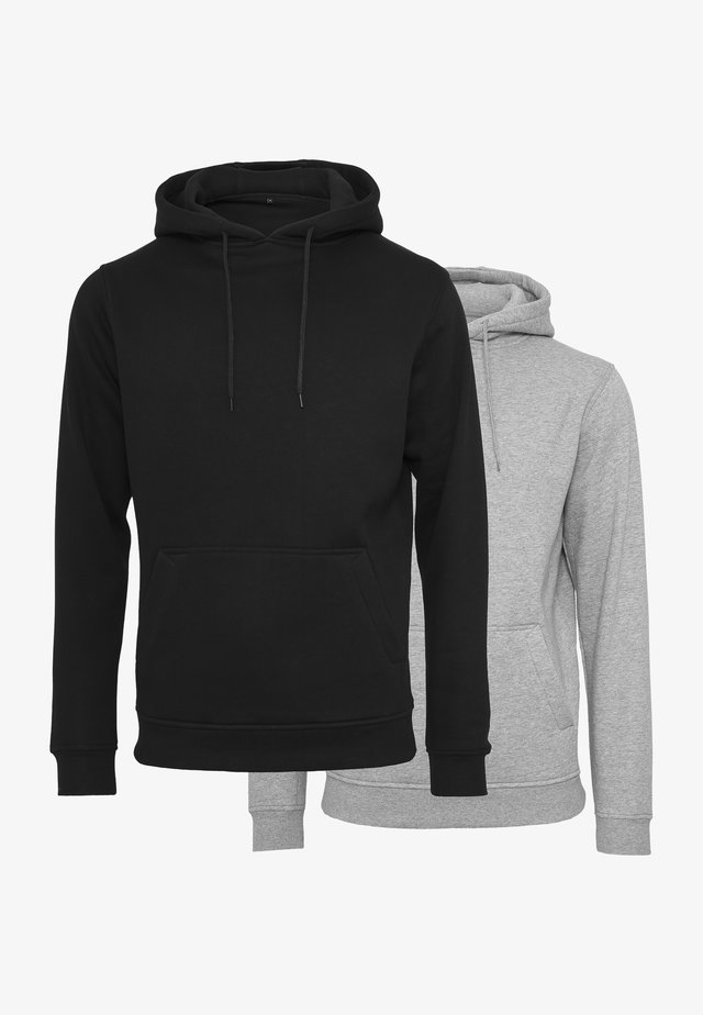 2-PACK - Hoodie - black/heather grey