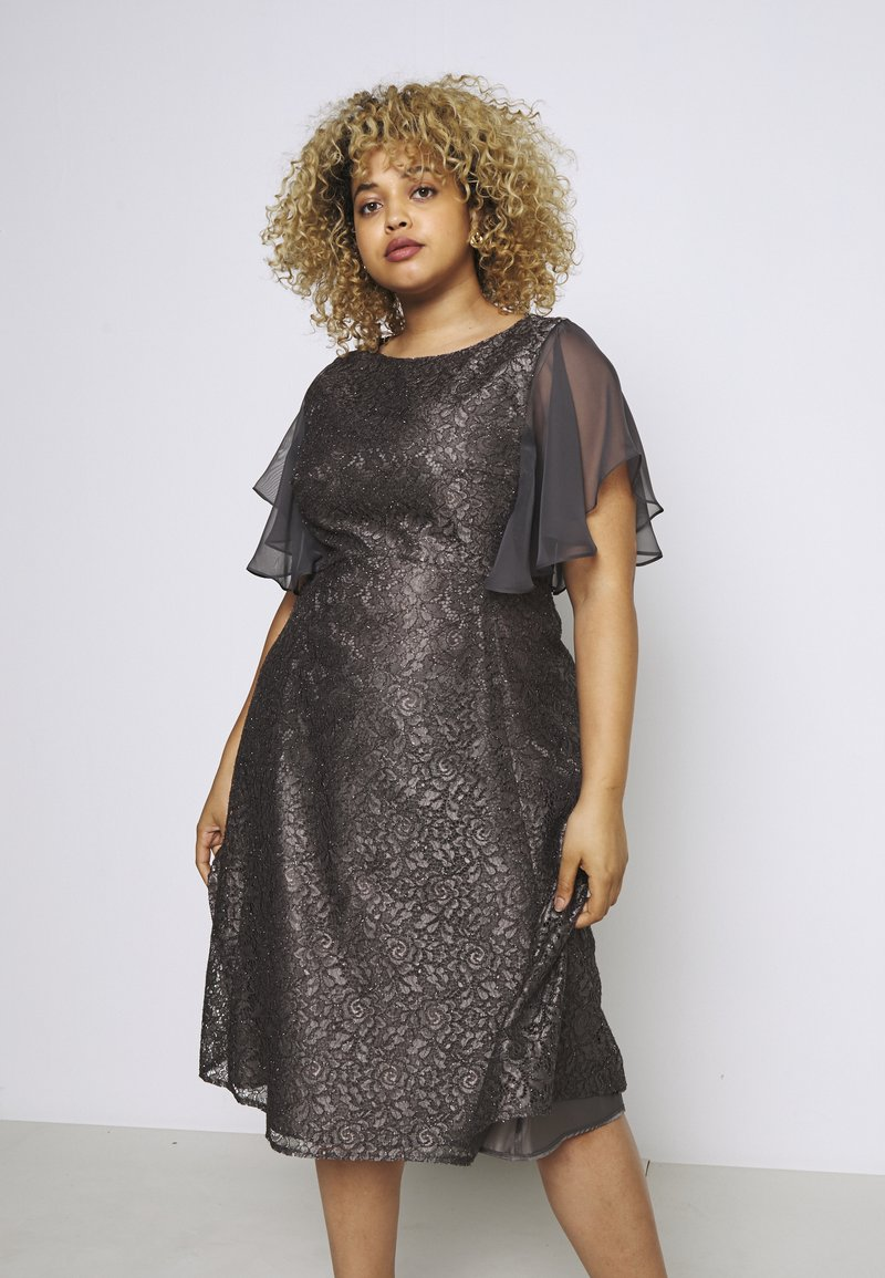 Swing Curve - Cocktail dress / Party dress - grey