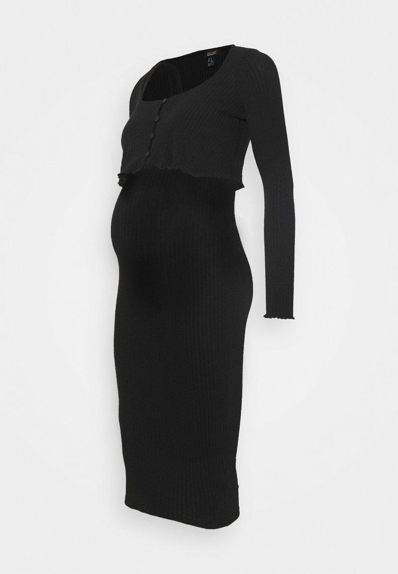 New Look Maternity - DRESS CARDIGAN SET - Kardigan - black