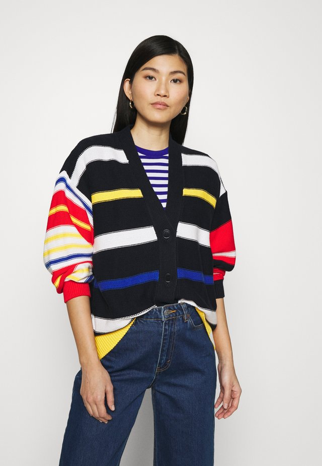 STRIPED CARDIGAN - Kardigan - multicolor