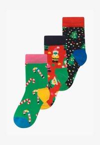 Happy Socks - CHRISTMAS HOLIDAY GIFT 3 PACK UNISEX - Socks - red - 0