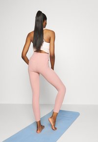 Nike Performance - YOGA - Leggings - rust pink/beige - 2