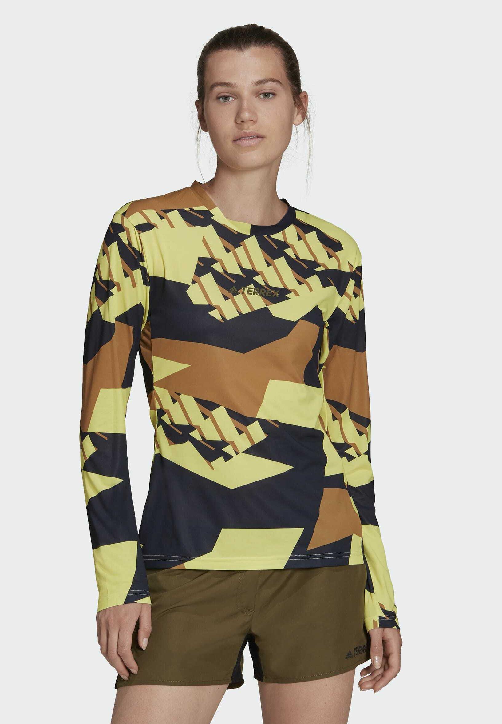 Femme TERREX PRIMEBLUE TRAIL GRAPHIC LONGSLEEVE - T-shirt à manches longues
