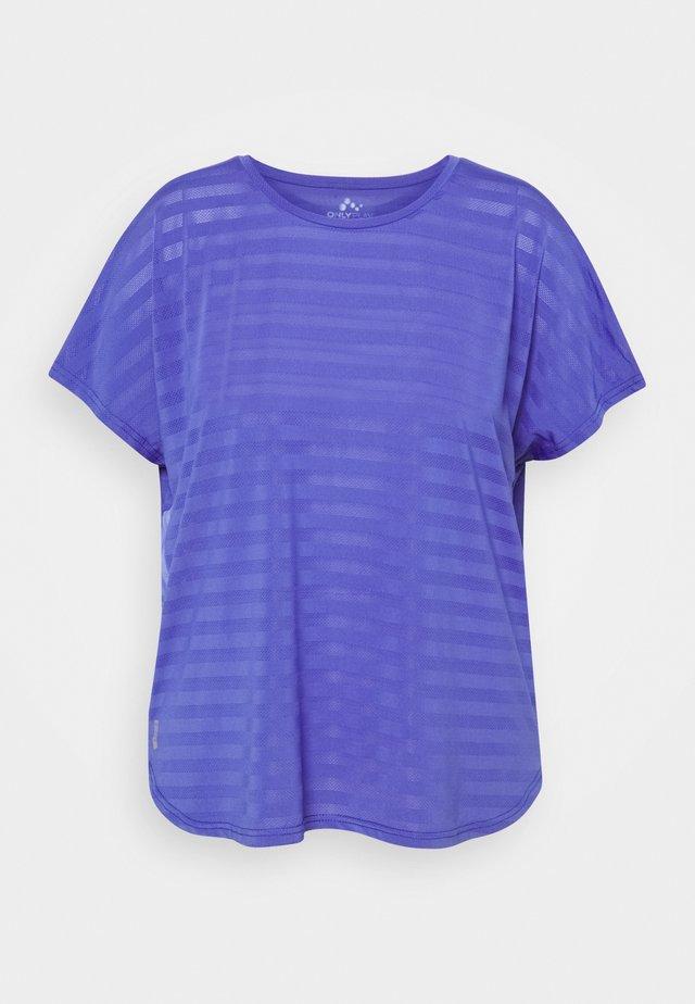 ONPANUR LOOSE SLIT TRAIN TEE  - T-shirt con stampa - blue iris