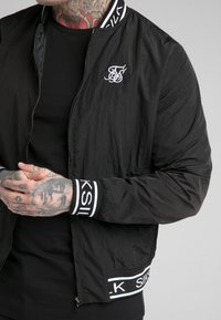 SIKSILK - CRUSHED  JACKET - Bomber Jacket - black - 4