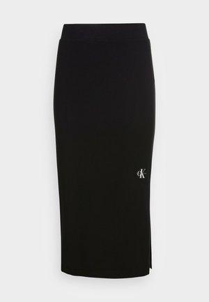 MICRO MONOGRAM KNIT TUBE SKIRT - Pouzdrová sukně -  black