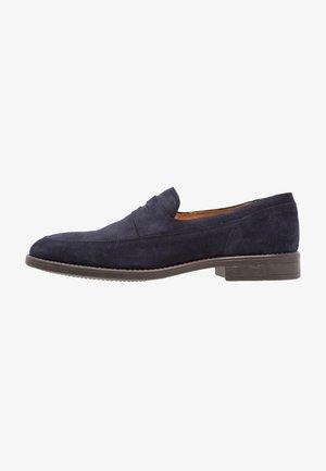 Smart slip-ons - dark blue denim
