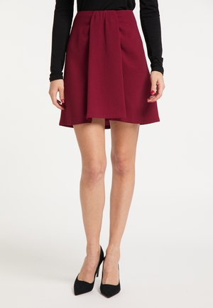 A-line skirt - dunkelrot