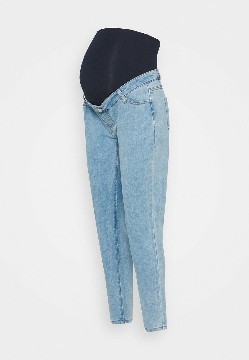 Missguided Maternity - MATERNITY RIOT OVER BUMP STRETCH - Jeans Tapered Fit - blue
