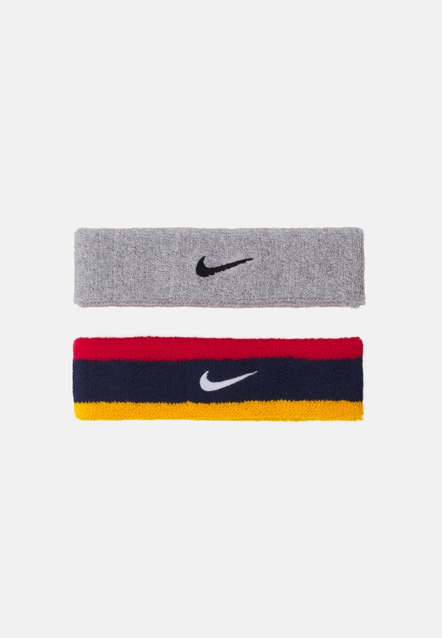HEADBAND 2 PACK UNISEX - Overige accessoires - midnight navy/university red/university gold/white/grey