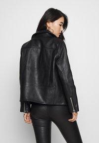 Samsøe Samsøe - WELTER JACKET  - Leather jacket - black - 2