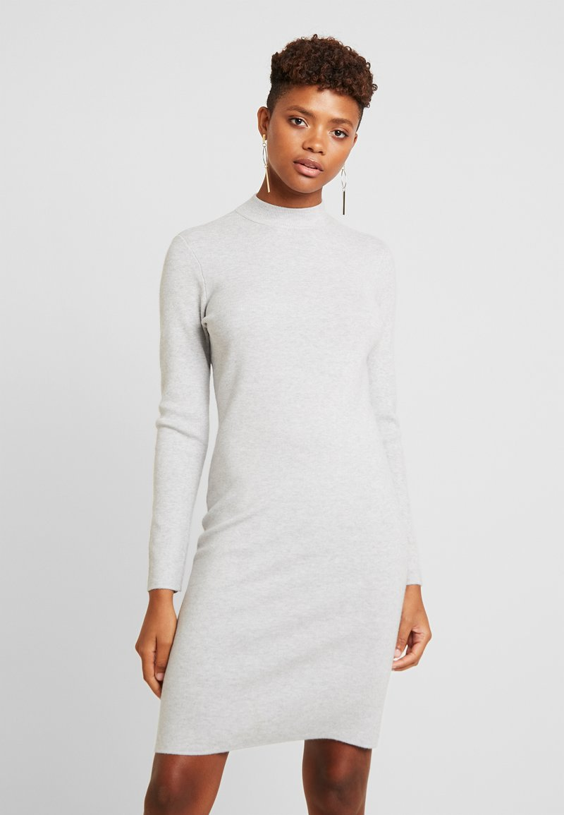 Vero Moda - VMFANCY NANCY HIGHNECK DRESS - Etuikjole - light grey melange