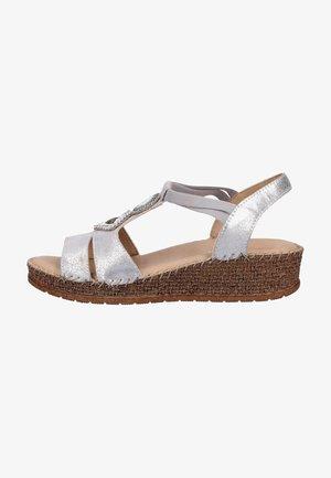 Sandalen met sleehak - gray