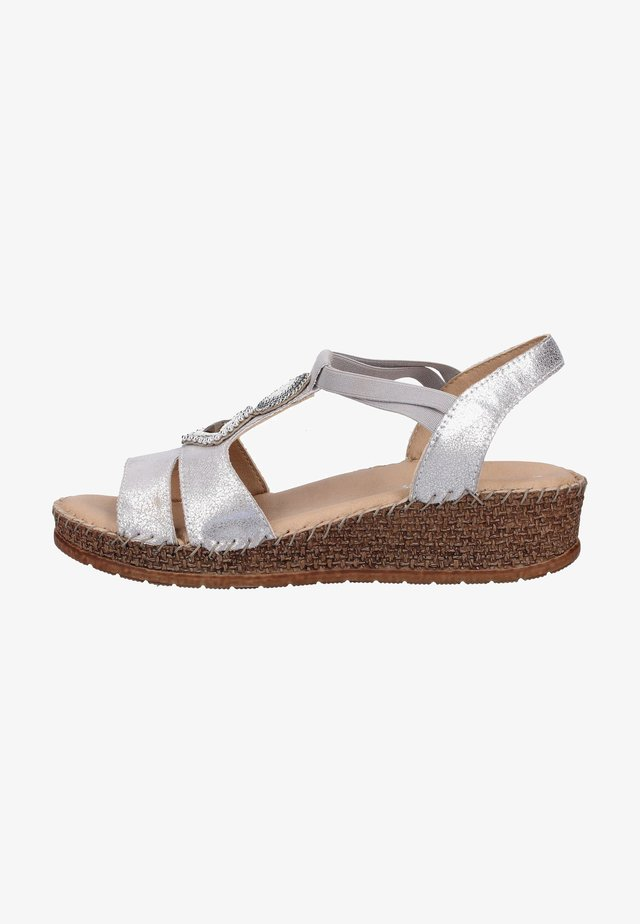 Wedge sandals - gray