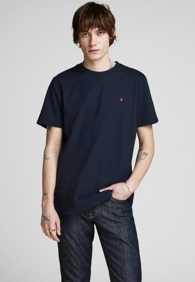 JJ-RDD CREW NECK - T-shirt basic - dark blue denim
