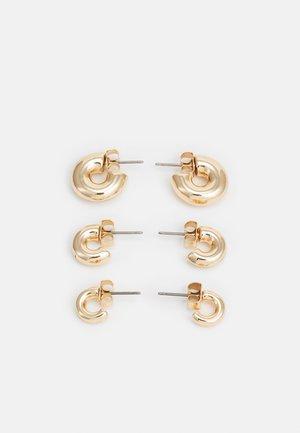 BOLD HOOP 3 PACK - Earrings - gold-coloured