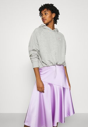 ELAXI CROPPED HOODY - Bluza z kapturem - light grey melange