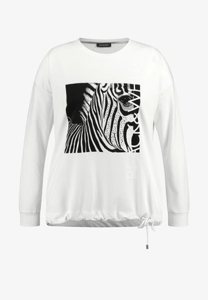 Sweatshirt - offwhite gemustert