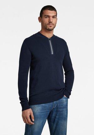 SLEEVE POCKET HALF ZIP KNITTED - Sweatshirt - sartho blue/dk black