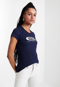 G-Star - GRAPHIC  - Print T-shirt - sartho blue - 0