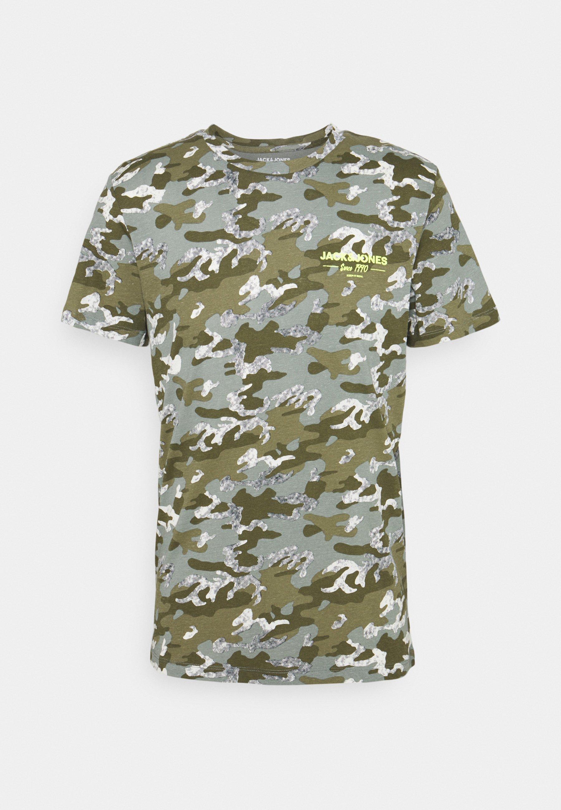 Homme JJSOLDIER TEE CREW NECK - T-shirt imprimé