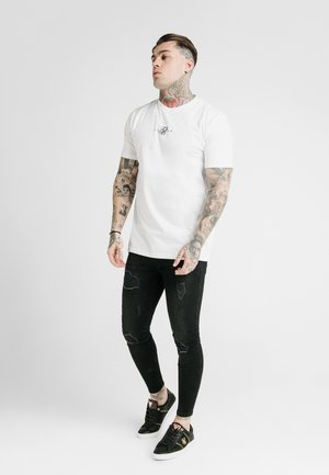SQUARE HEM TEE - T-shirt basic - white