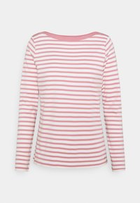 CONTRAST NECK - Long sleeved top - rose/white