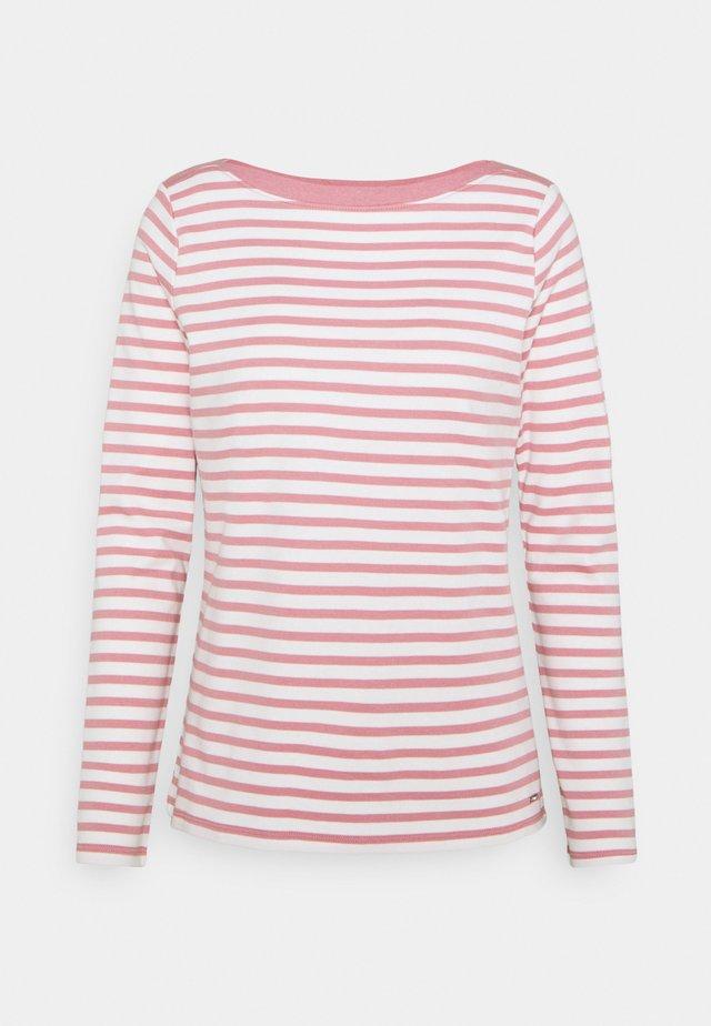 CONTRAST NECK - Långärmad tröja - rose/white