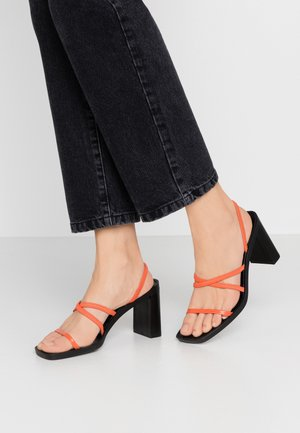 DONNA - High heeled sandals - rust