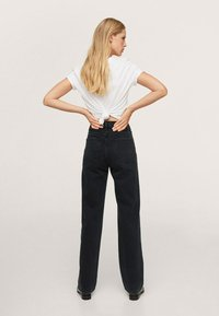 Mango - Straight leg jeans - black denim - 2