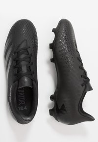 adidas Performance - PREDATOR 20.4 FXG - Moulded stud football boots - core black/dough solid grey - 1
