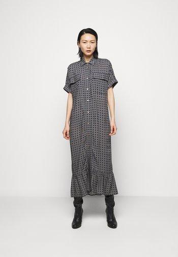 LIGHT MAXI DRESS - Košilové šaty - navy tile