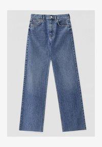HIGH WAIST - Jeansy Straight Leg - blue
