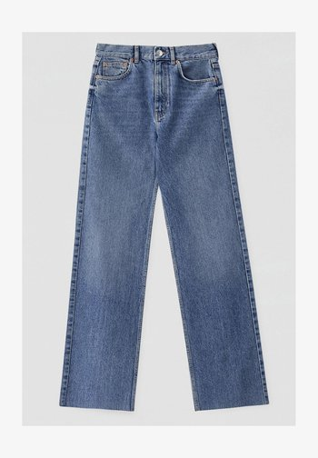 HIGH WAIST - Straight leg jeans - blue