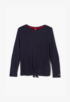KNOTEN - Long sleeved top - dark blue melange