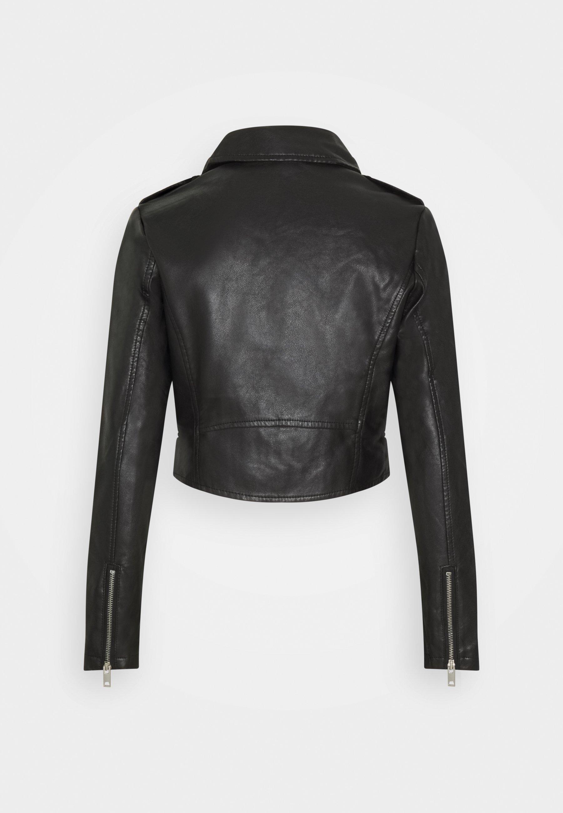Women CROPPED JACKET - Faux leather jacket