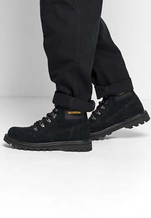 GRAVITON - Šněrovací kotníkové boty - black
