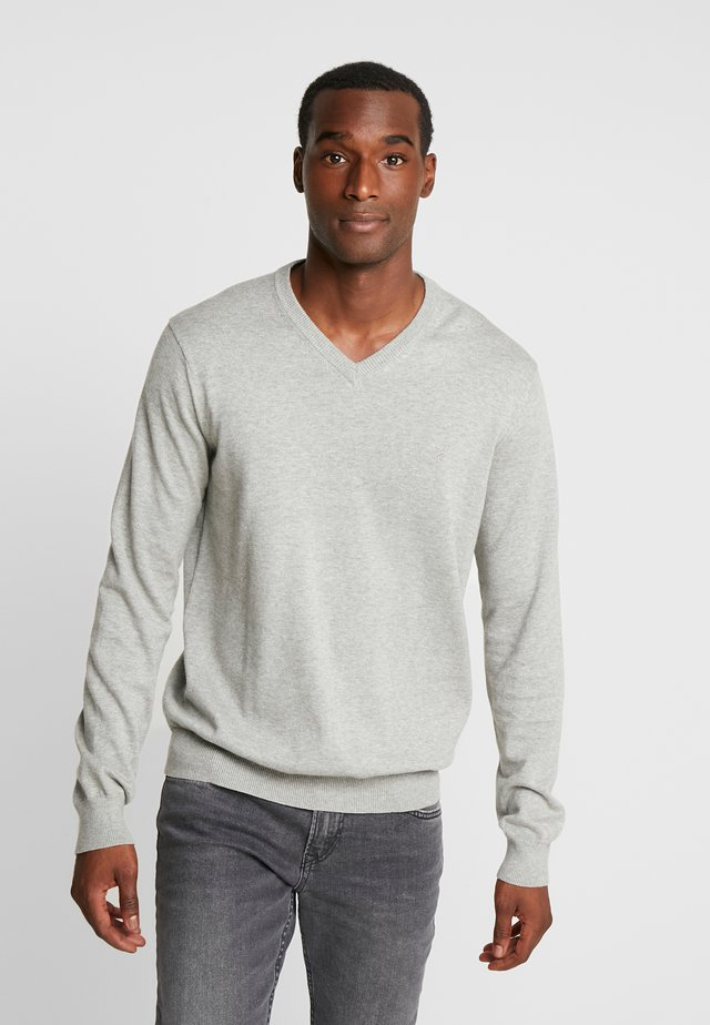 V-NECK - Trui - light grey heather