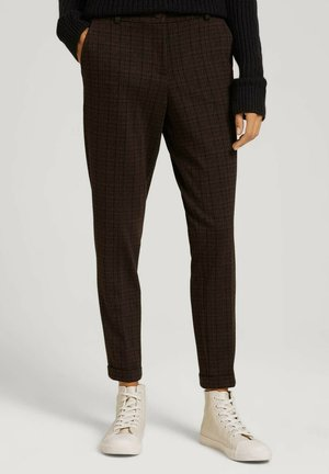 Chinos - black brown structure check