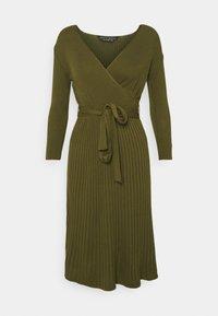 Dorothy Perkins - WRAP DRESS - Jumper dress - khaki - 4