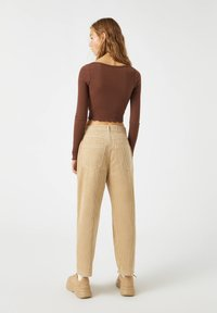 PULL&BEAR - Long sleeved top - dark brown - 2