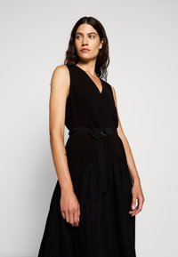 3.1 Phillip Lim - V NECK TANK DRESS SHIRRED SKIRT - Day dress - black - 4