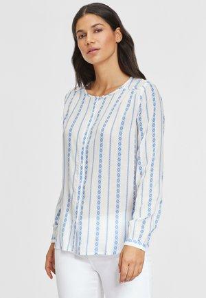 Camicia - creme-blau-bedruckt