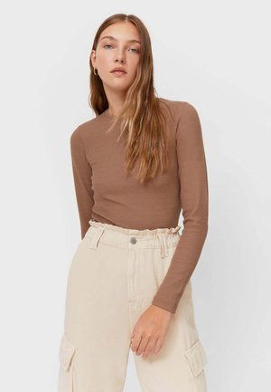 MIT STRUKTURMUSTER - Long sleeved top - brown