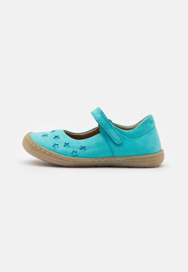 MARI - Ankle strap ballet pumps - turquoise