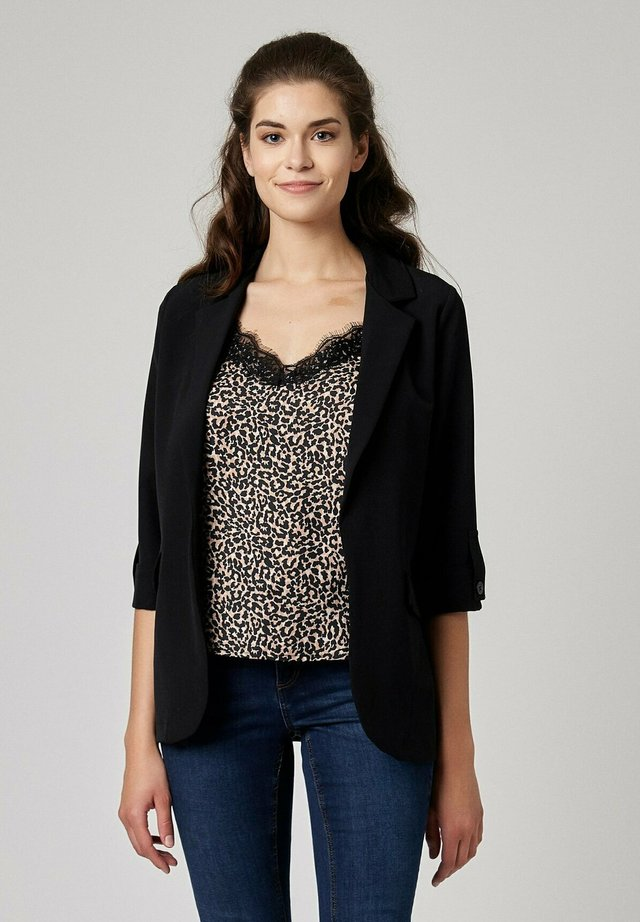 WITH ROLLED UP SLEEVES - Blazer - black