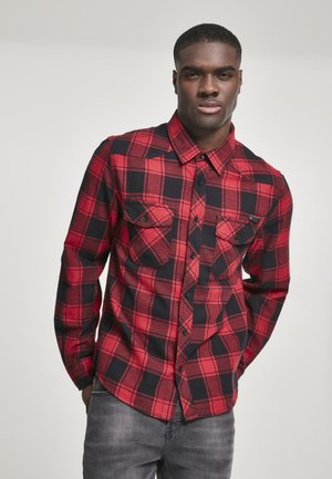HERREN CHECKSHIRT - Skjorta - black/red