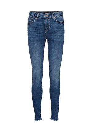 SKINNY FIT JEANS VMHANNA NORMAL WAIST - Jeans Skinny Fit - dark blue denim